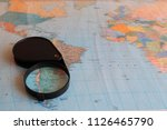 a magnifying glass for reading... | Shutterstock . vector #1126465790