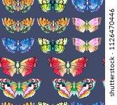 butterfly watercolor... | Shutterstock . vector #1126470446