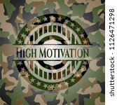 high motivation camouflage... | Shutterstock .eps vector #1126471298