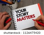 handwriting text your story...   Shutterstock . vector #1126475420