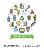 trash signs round design... | Shutterstock .eps vector #1126476104