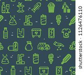 trash signs seamless pattern... | Shutterstock .eps vector #1126476110