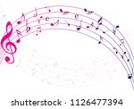 abstract colorful music notes... | Shutterstock .eps vector #1126477394