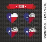 texas collection of four vector ... | Shutterstock .eps vector #1126478948
