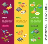 cooking or preparation food... | Shutterstock .eps vector #1126481813