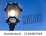 text sign showing demo.... | Shutterstock . vector #1126481969