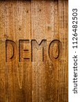 text sign showing demo.... | Shutterstock . vector #1126482503