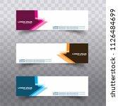 vector design banner backgrounds | Shutterstock .eps vector #1126484699