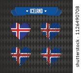 iceland heart with flag inside. ... | Shutterstock .eps vector #1126490708