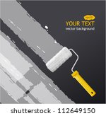 vector roller brush with white... | Shutterstock .eps vector #112649150