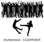 two men fight against on the... | Shutterstock .eps vector #1126492604
