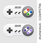 realistic mockup video game...   Shutterstock .eps vector #1126492706