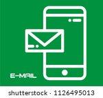 mobile send to e mail vector... | Shutterstock .eps vector #1126495013