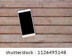 mobile phone with blank screen... | Shutterstock . vector #1126495148