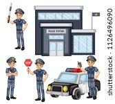 vector illustration set of a... | Shutterstock .eps vector #1126496090