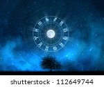 zodiac signs horoscope with the ... | Shutterstock . vector #112649744