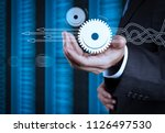 thinking about structuring... | Shutterstock . vector #1126497530