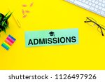 college admission concept. word ... | Shutterstock . vector #1126497926