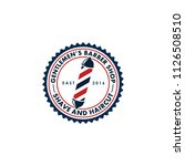 barber shop logo vector   Shutterstock .eps vector #1126508510