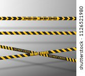 black and yellow caution lines... | Shutterstock .eps vector #1126521980