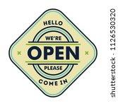 open door sign isolated in white | Shutterstock .eps vector #1126530320