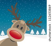 Reindeer With Red Nose Look...