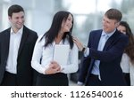 boss and business team in office | Shutterstock . vector #1126540016