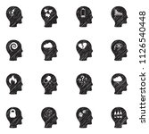 stress and depression icons.... | Shutterstock .eps vector #1126540448