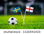sweden and england national...   Shutterstock . vector #1126541423