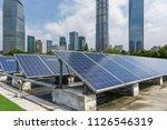 solar and modern city skyline  | Shutterstock . vector #1126546319