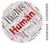 vector conceptual human rights... | Shutterstock .eps vector #1126546343