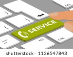 keyboard with green service... | Shutterstock .eps vector #1126547843