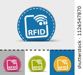 rfid buttons   four colorful... | Shutterstock .eps vector #1126547870