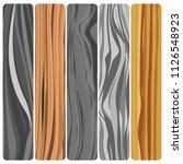 five wooden boards. vector... | Shutterstock .eps vector #1126548923