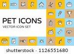 pet logo design template set.... | Shutterstock .eps vector #1126551680