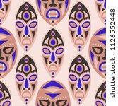 vector illustration. ethnic... | Shutterstock .eps vector #1126552448