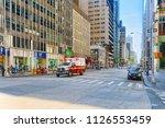 new york  usa  august 14  2017  ...   Shutterstock . vector #1126553459