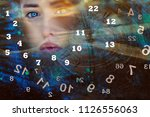 the queen of numerology in the... | Shutterstock . vector #1126556063