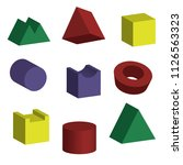 3d geometric shapes with... | Shutterstock .eps vector #1126563323