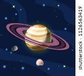saturn  vector cartoon...   Shutterstock .eps vector #1126563419