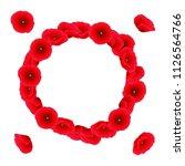 papaver rhoeas wreath  or... | Shutterstock .eps vector #1126564766
