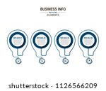 business timeline infographics | Shutterstock .eps vector #1126566209
