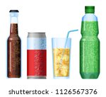 fizzy drinks beverage with... | Shutterstock .eps vector #1126567376