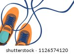 poster of casual shoes vector | Shutterstock .eps vector #1126574120
