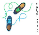 two fashion sneakers | Shutterstock .eps vector #1126574123