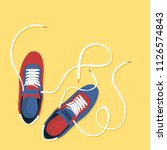 colored pair of shoes | Shutterstock .eps vector #1126574843