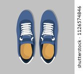 blue pair of shoes | Shutterstock .eps vector #1126574846