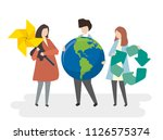 environmental conservation and... | Shutterstock .eps vector #1126575374