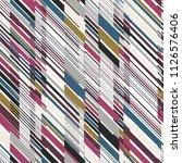 diagonal multicolor stripes... | Shutterstock .eps vector #1126576406