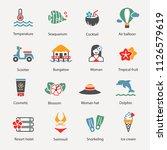 summer beach objects set | Shutterstock .eps vector #1126579619